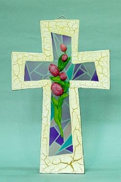 10吋掛式透明彩色十字架/申嘉6175B
